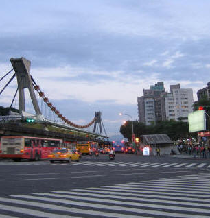 On the way to Shilin Night Market at twilight